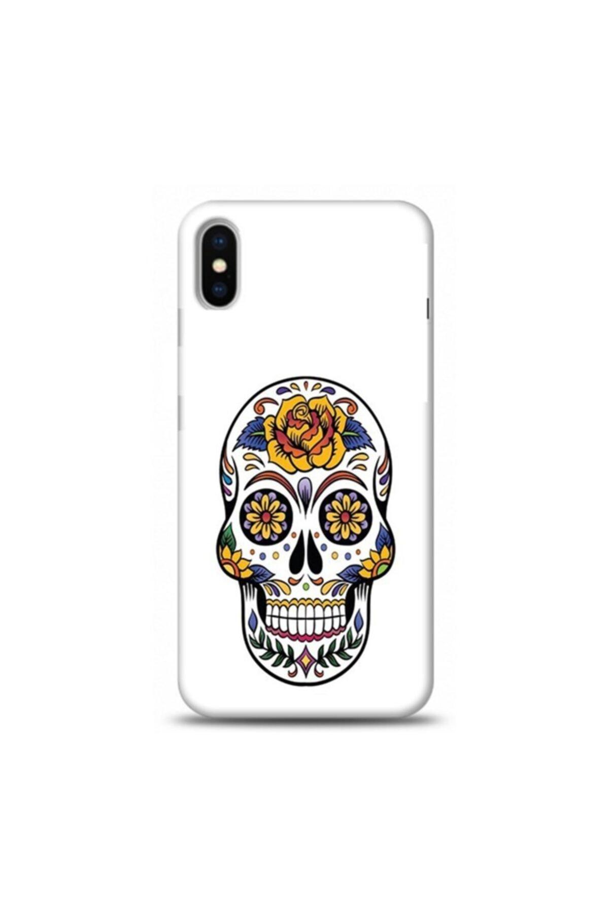 EXCLUSIVE Apple Iphone Xs Max Cicek Desenli Iskelet Desenli Telefon Kılıfı 1