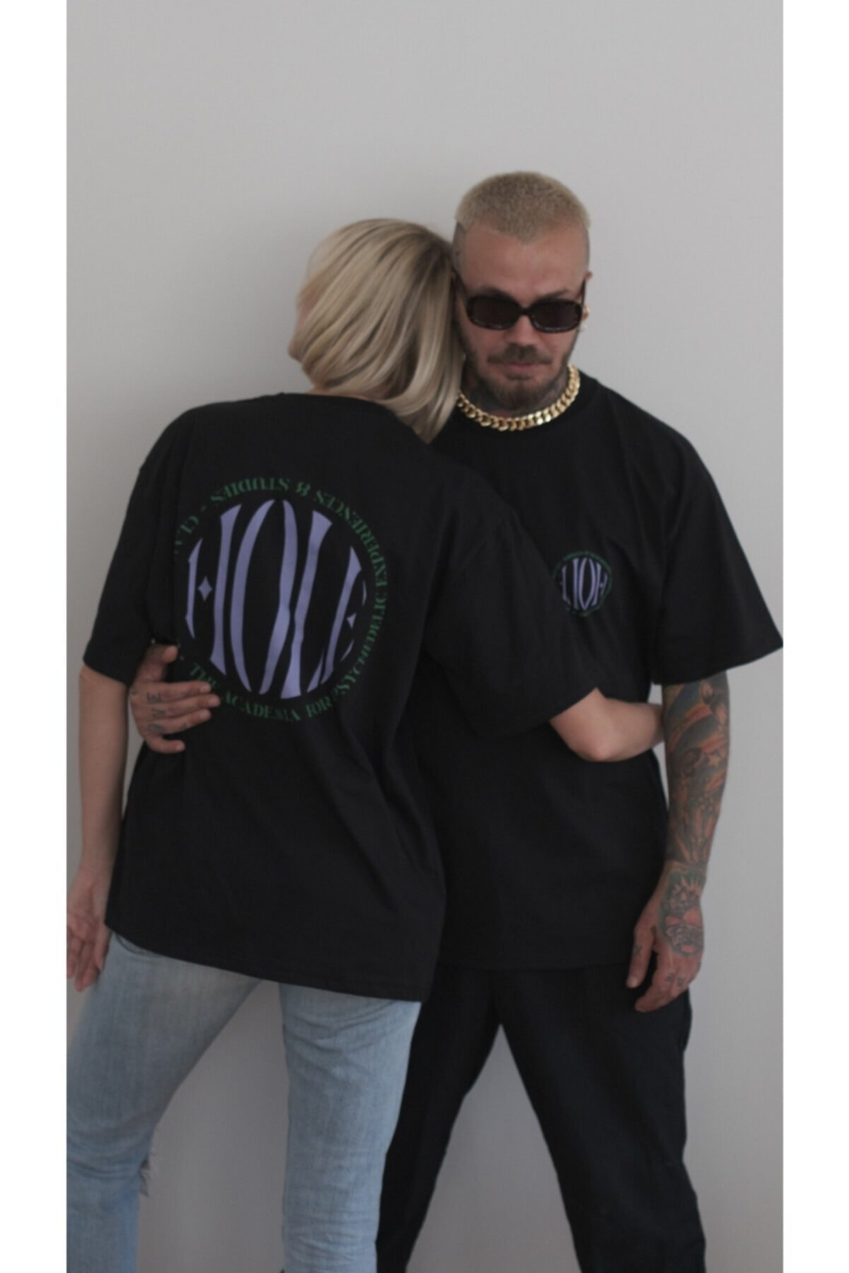 HOLEACADEMIE Unisex Oversize Tshirt 1