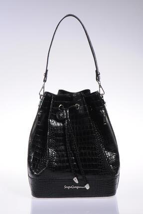 Sergio Giorgianni Luxury Sg1104 Siyah Kadın Omuz Çantası
