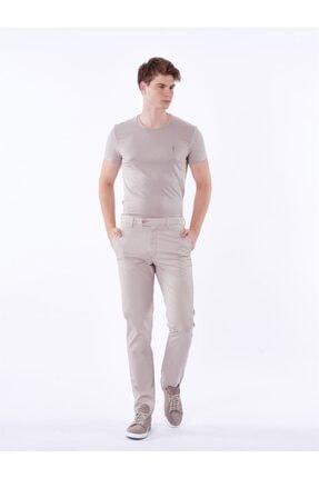 Dufy Bej Büyük Beden Düz Erkek Pantolon - Battal
