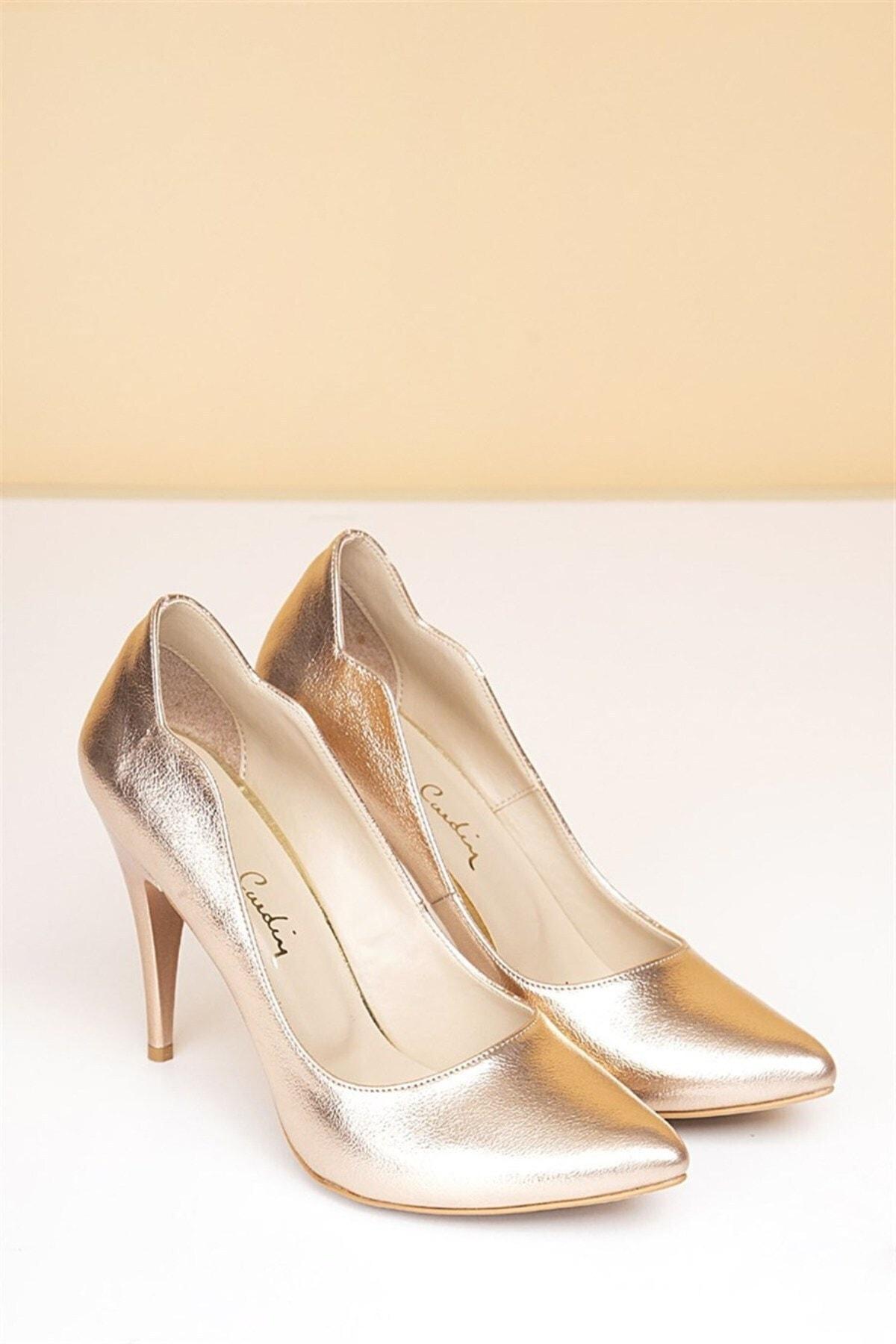 Pierre Cardin Kadın Topuklu Ayakkabı, Rose Gold (Pc-50181) 1
