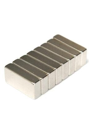 Dünya Magnet 8 Adet 20x10x5mm Dikdörtgen Güçlü Neodyum Mıknatıs