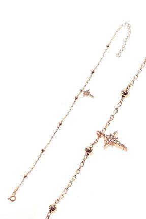 Söğütlü Silver Gümüş Kutup Yıldızı Ve Toplu Zincir Halhal