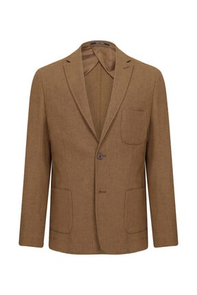 W Collection Taba Astarsız Ceket