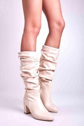 Bambi Bej Kadın Çizme M0503715009