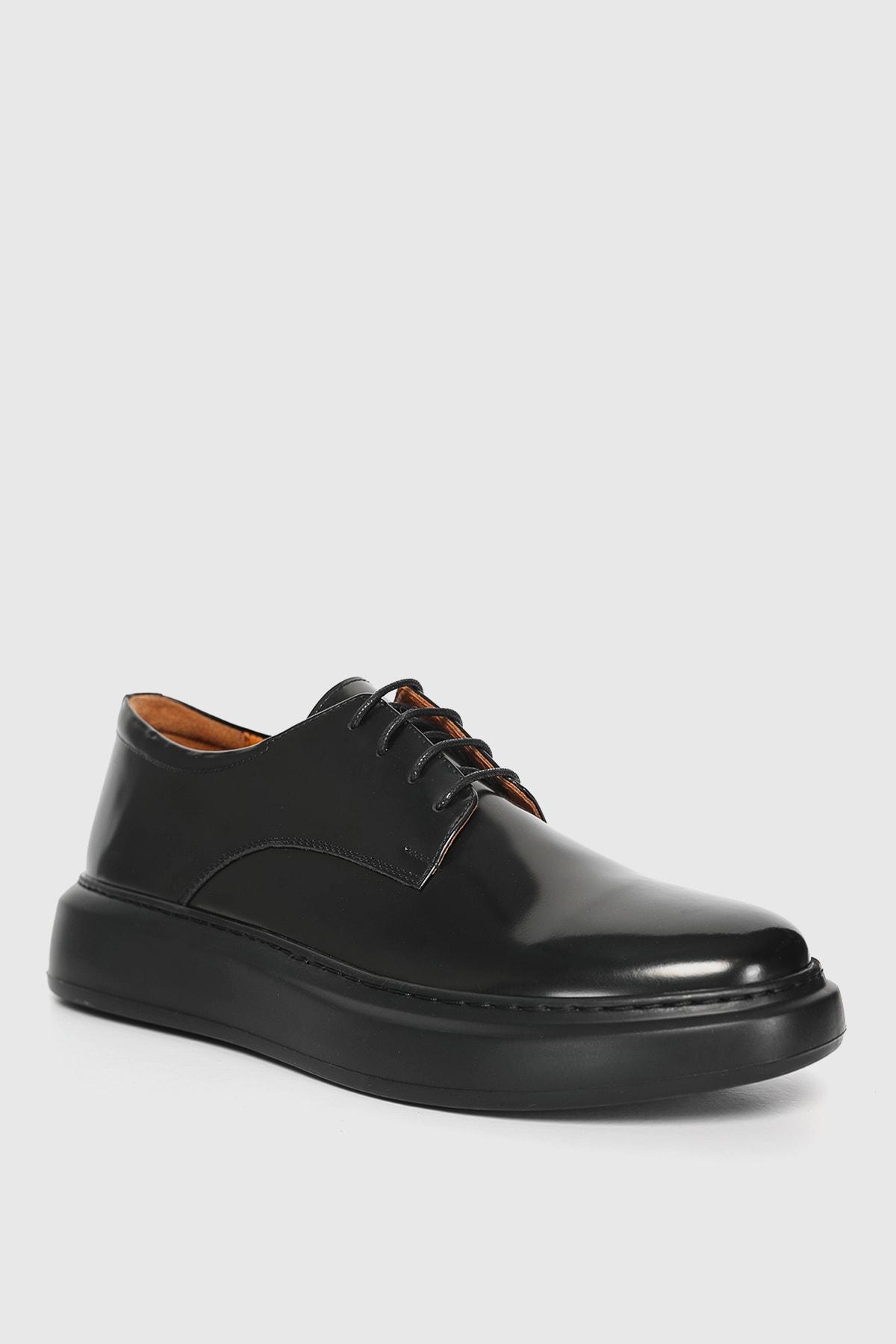 Lufian Flap Deri Sneaker Siyah 2