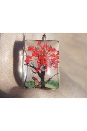 FEELİNG Ağaç Figürlü Cam Canlı Kolye
