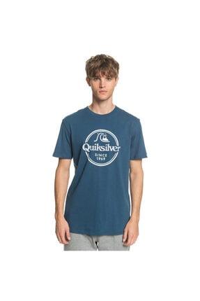 Quiksilver Wordsremainss Erkek Mavi Günlük Stil Tişört Eqyzt05753-bsm0