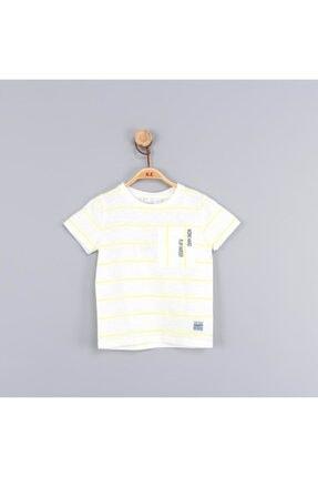 NK Erkek Bebek Çocuk Neon Çizgili Büyük Cepli Tshirt