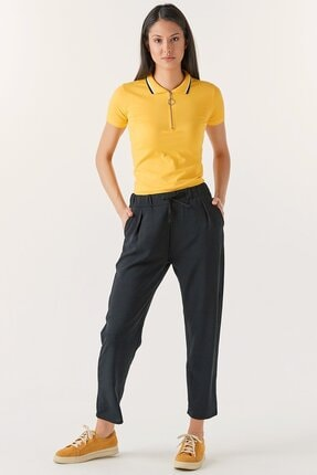Fulla Moda Kadın Beli Lastikli Cepli Pantolon
