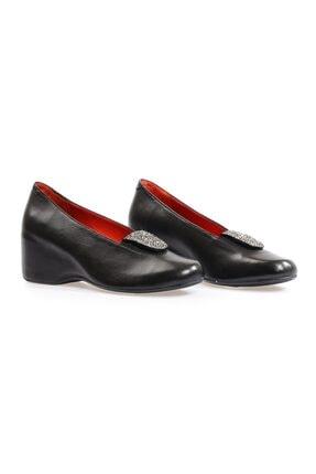 Flower Siyah Metis Taşlı Günlük Ayakkabı