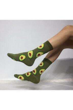 ADEL ÇORAP Unisex Avokado Desenli Soket (Uzun) Çorap