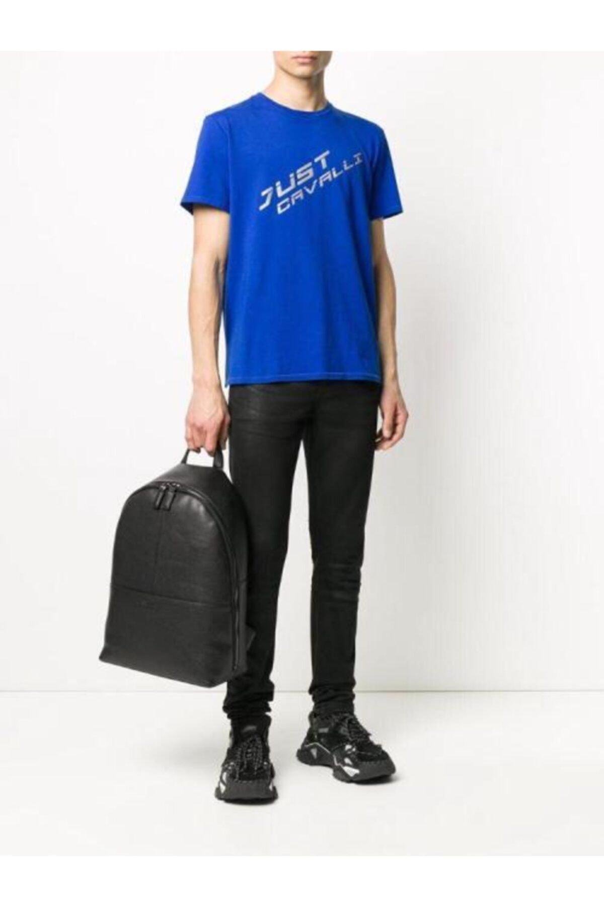 Just Cavalli Reflektör Baskı T-shirt 1