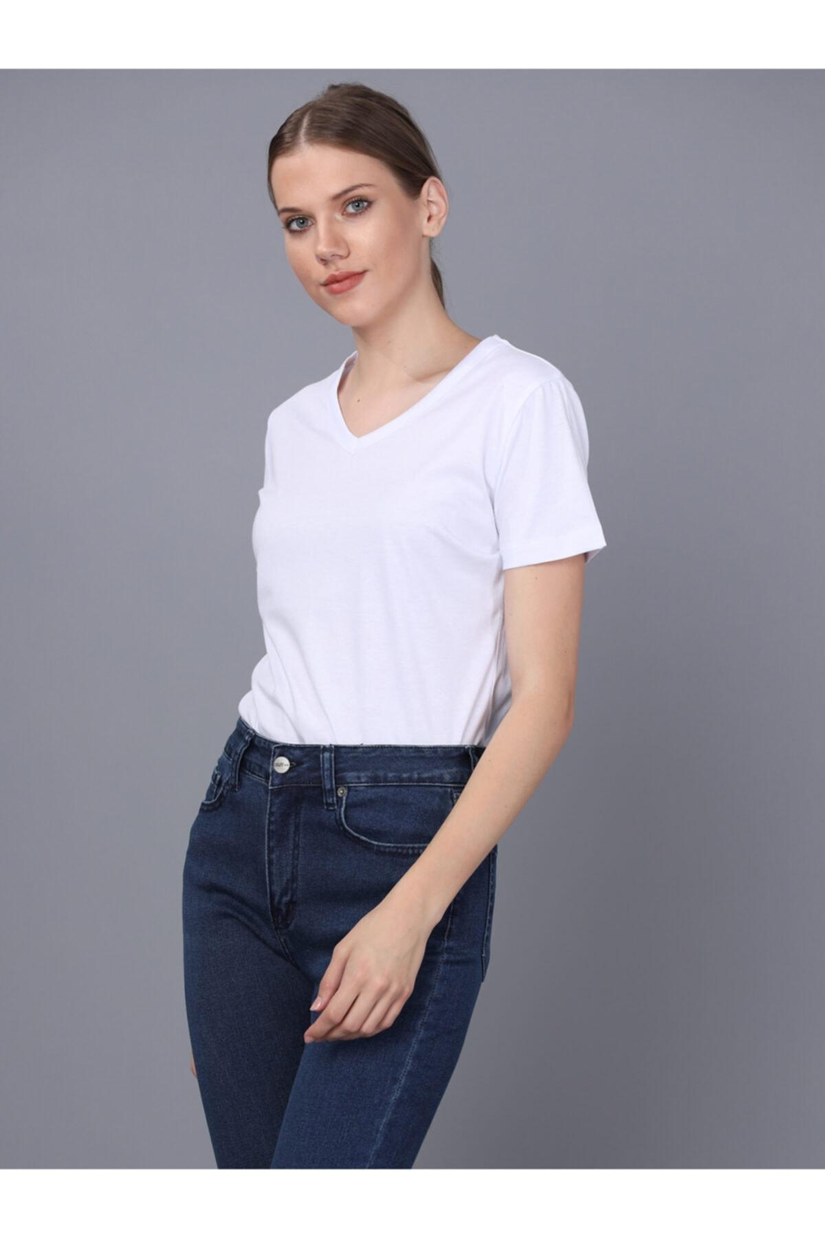 Basics&More Bayan V Yaka T-shirt 2