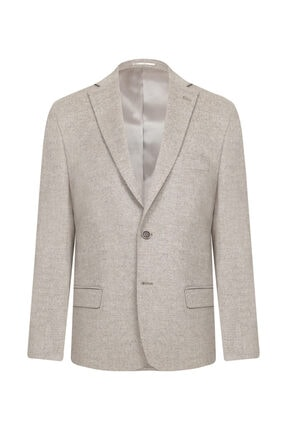 W Collection Bej Kaşmirli Ceket