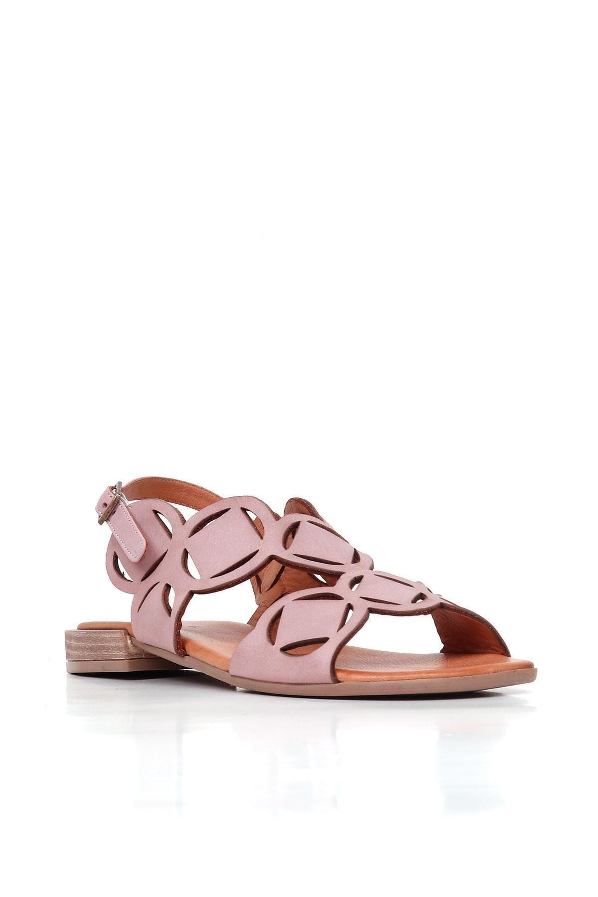 BUENO Shoes Kemerli Hakiki Deri Kadın Düz Sandalet 20wq5601 2