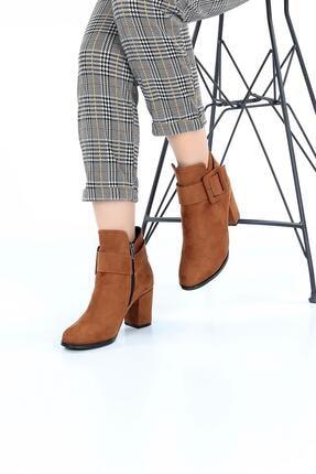SOBY SHOES Kadın Günlük Tokalı Süet Fermuarlı Şık Topuklu Bot Ve Çizme Soby11060018