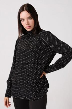 Gusto Puanlı Bluz - Siyah