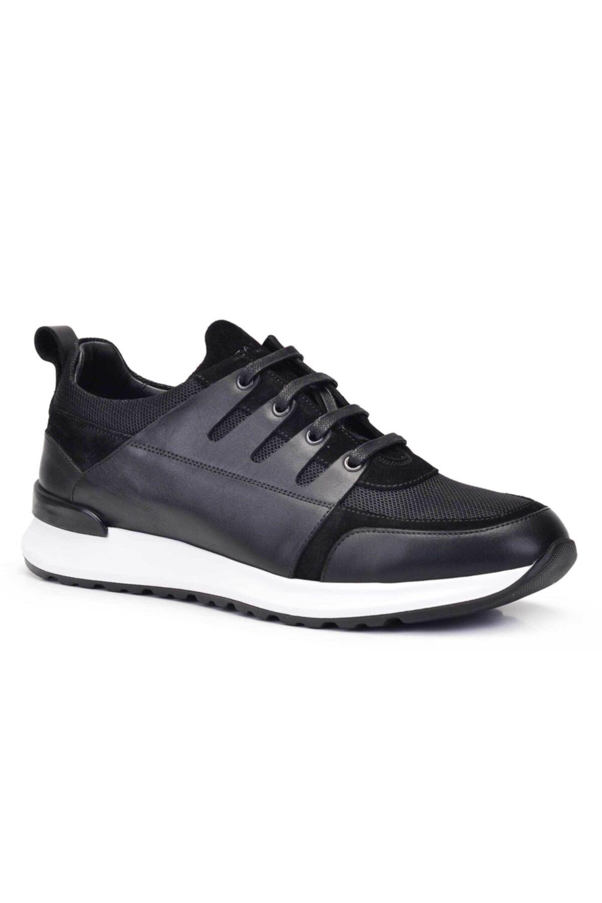 Nevzat Onay Hakiki Deri Siyah Sneaker Erkek Ayakkabı -11783- 2