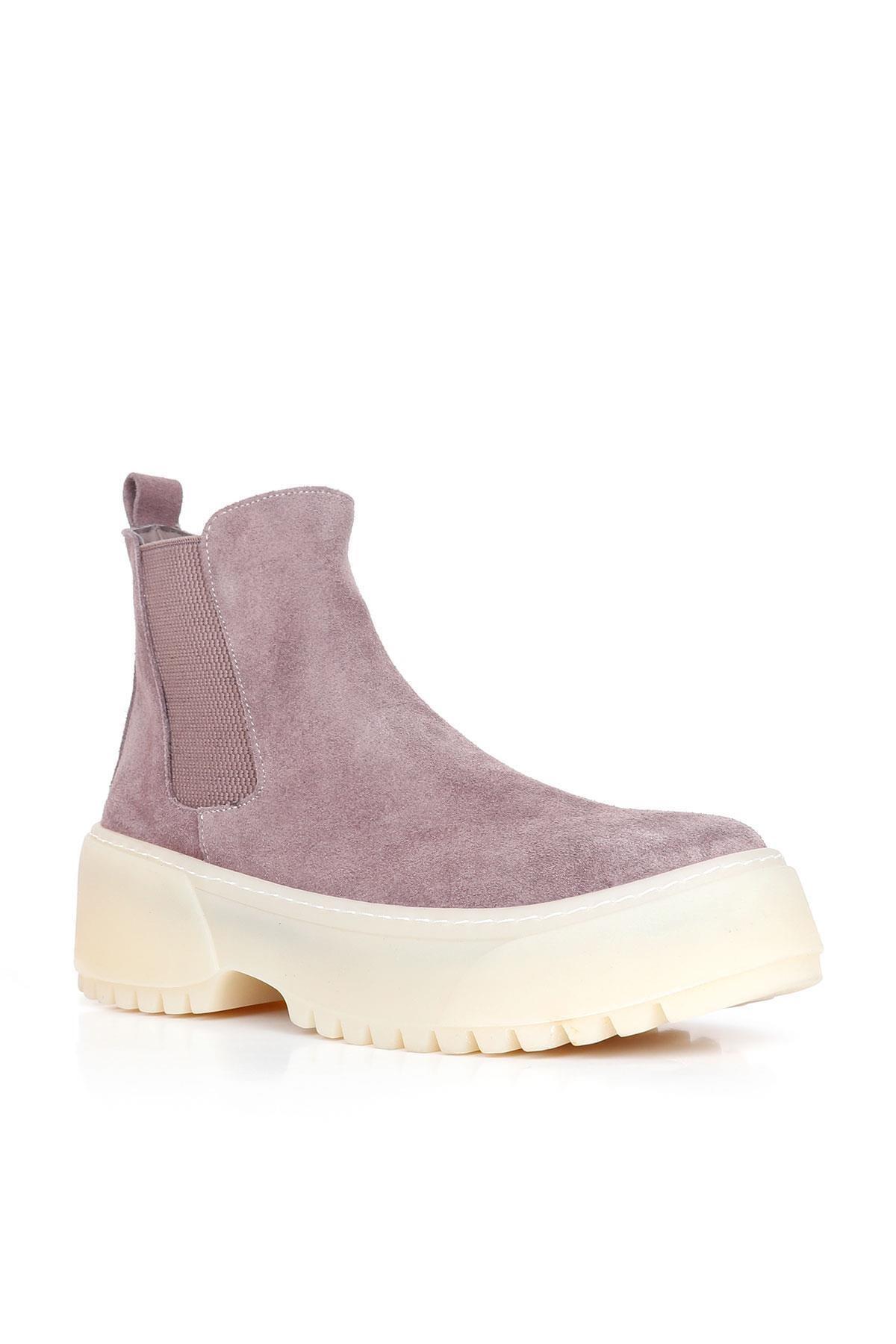 BUENO Shoes Hakiki Deri Kadın Dolgu Topuk Bot 01wr4701 2