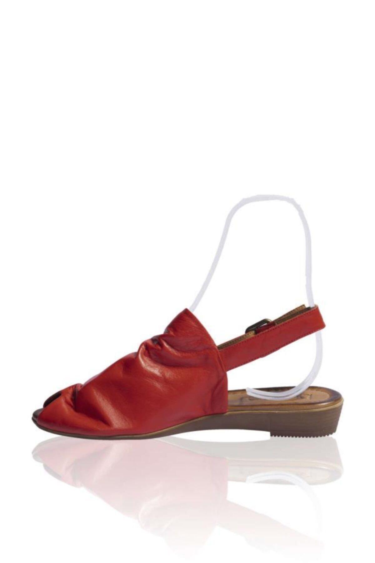 BUENO Shoes Kemerli Hakiki Deri Kadın Düz Sandalet 9n7205 2