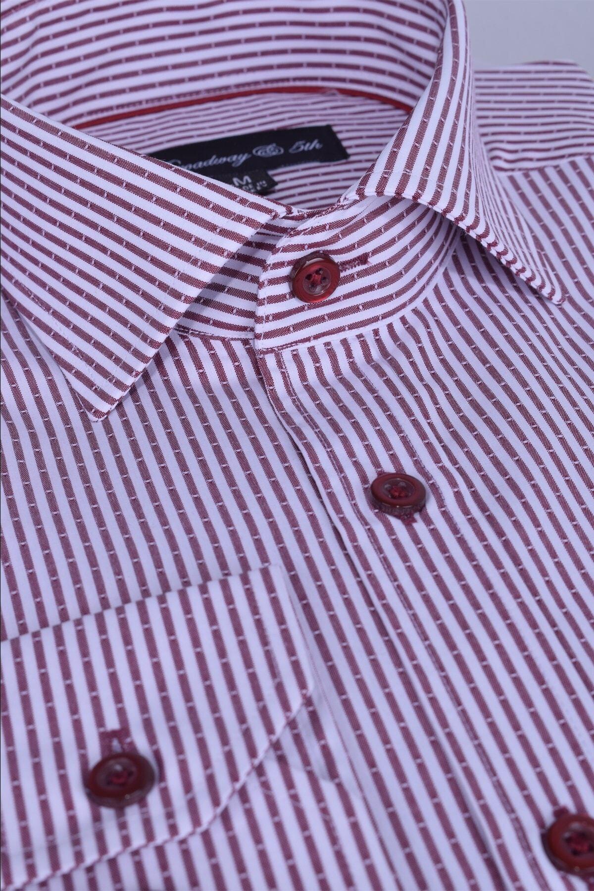 Ottomoda Broadway Uzun Kollu Çizgili Erkek Gömlek Premium 1