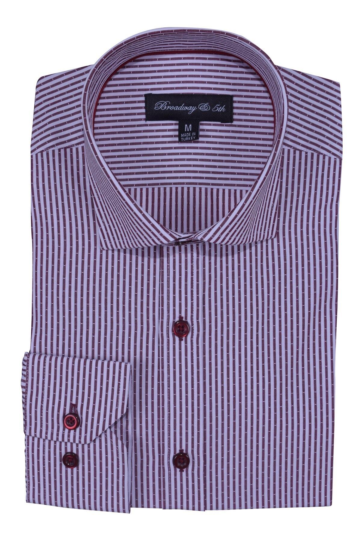 Ottomoda Broadway Uzun Kollu Çizgili Erkek Gömlek Premium 2