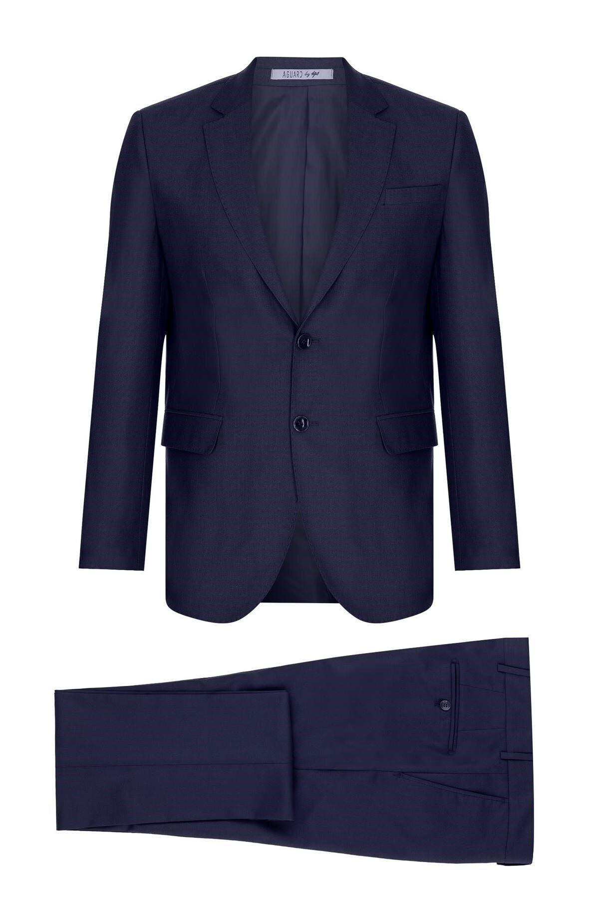 İgs Erkek Lacivert Barı / Geniş Kalıp Std Takım Elbise 1