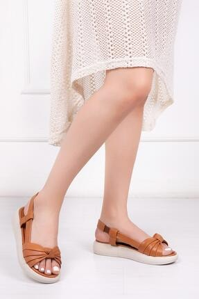 Deripabuc Hakiki Deri Taba Kadın Deri Sandalet Dp-1841
