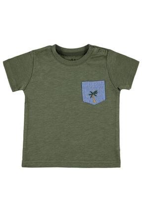 Kujju Erkek Bebek Tişört 6-18 Ay Haki