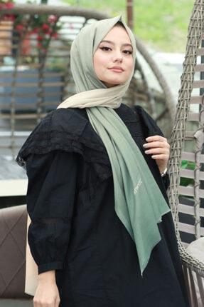 AFVENTE Kadın Haki-krem Degrade Pamuk Şal Dg01