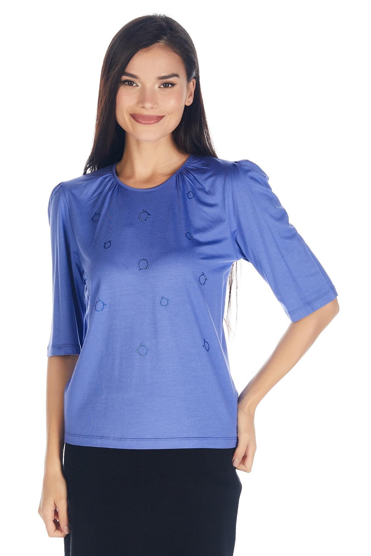 Solo Kadın Hotfix Viskoz-abiye T-shirt-bluz 1
