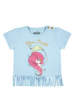 Kujju Kız Bebek Tişört 6-18 Ay Mavi