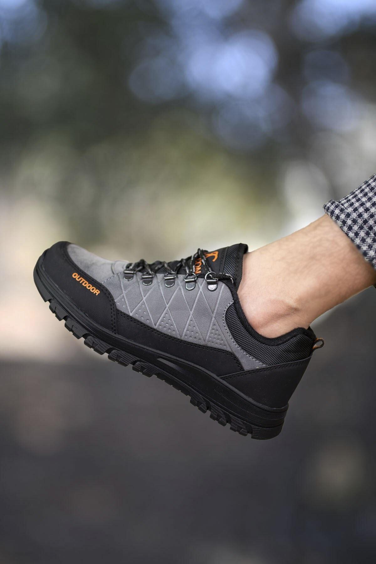 Riccon Füme Siyah Erkek Trekking Ayakkabı 0012114 1