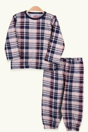 Breeze Erkek Çocuk Pijama Takımı Ekoseli Bej (1-2 Yaş)