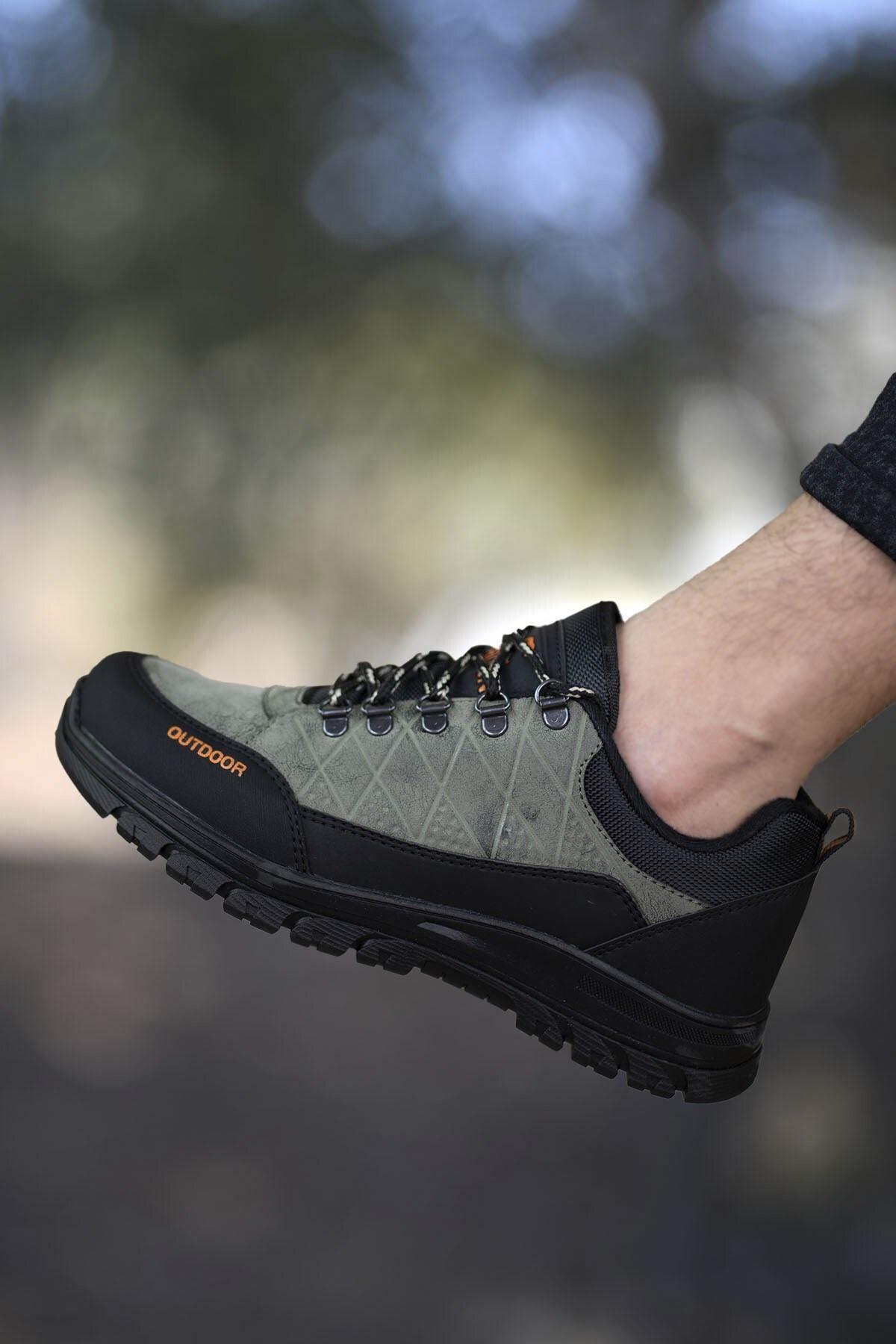 Riccon Haki Siyah Erkek Trekking Ayakkabı 0012114 1