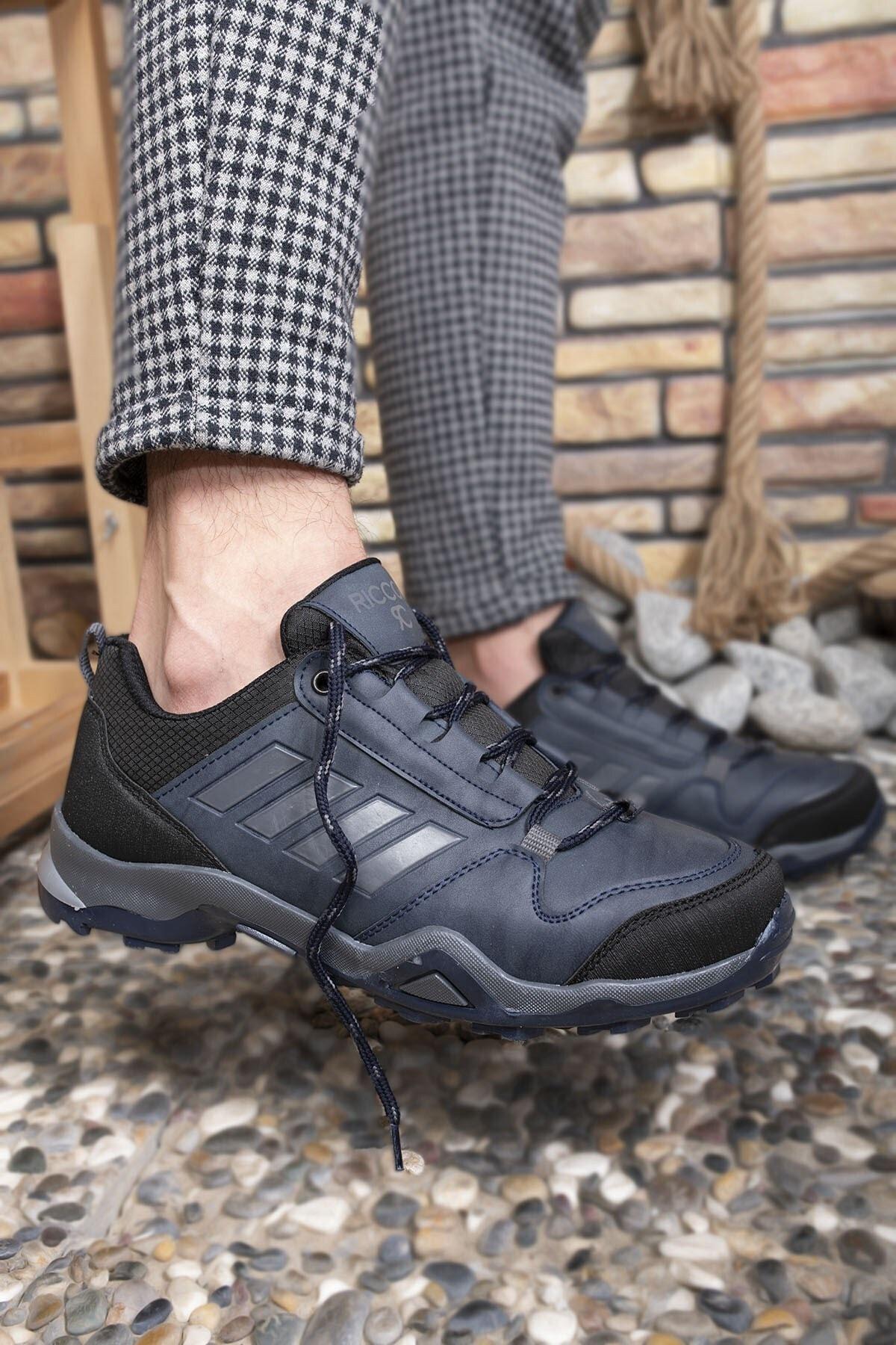 Riccon Lacivert Füme Erkek Trekking Ayakkabı 0012189 2