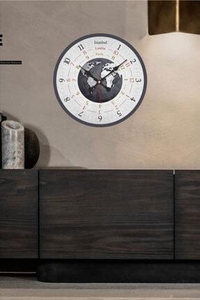 Revello Dünya Temalı Bombeli Duvar Saati