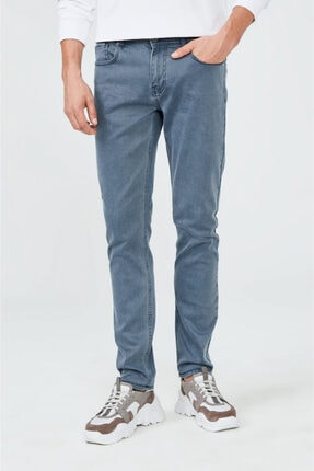 Avva Erkek Mavi Slim Fit Jean Pantolon A02y3570