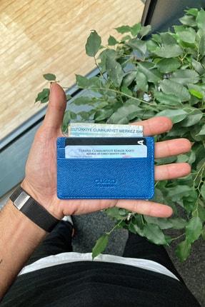 GUARD Hakiki Deri Kartlık - Ultra Küçük / Mavi Saffiano