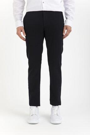 Avva Erkek Lacivert Yandan Cepli Armürlü Slim Fit Pantolon A01y3043