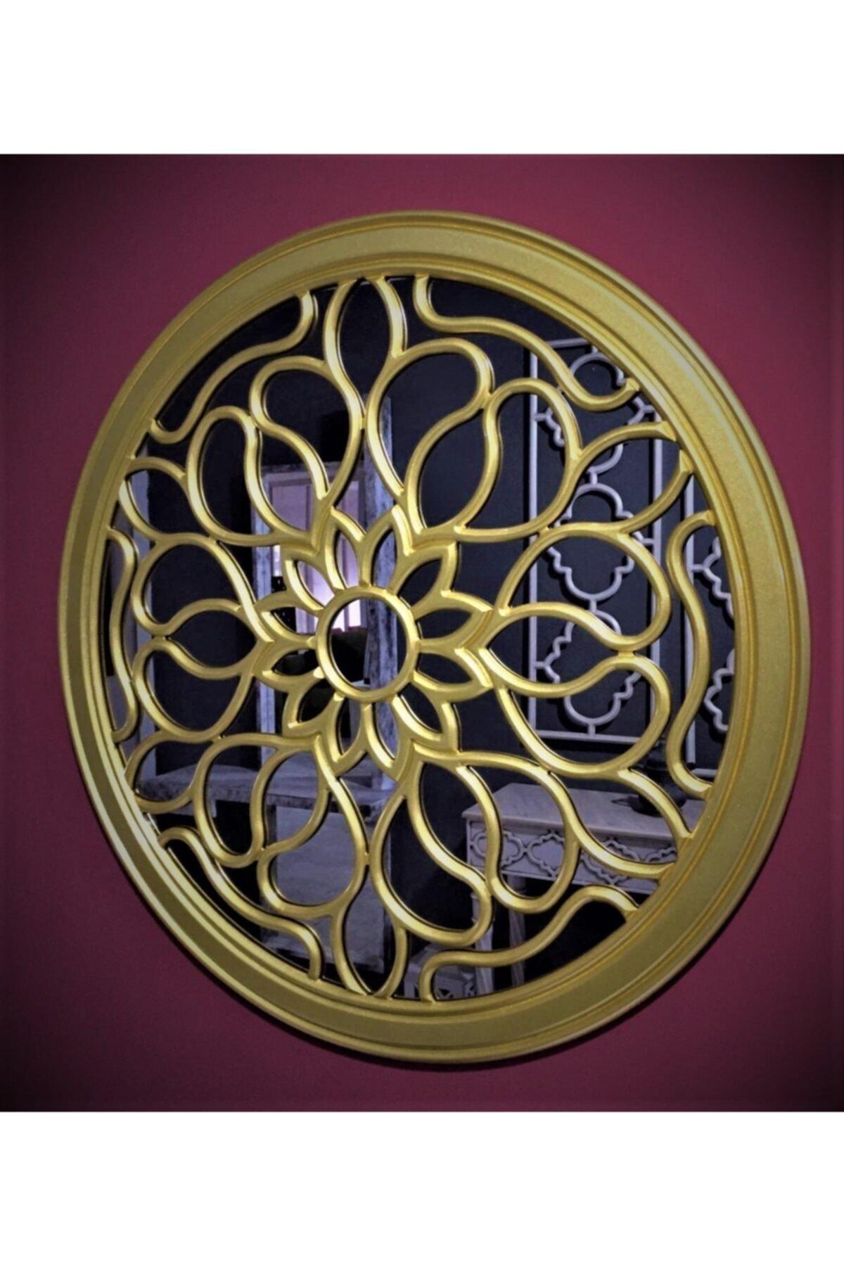 MSK mobilya dekorasyon Dekoratif Varaklı Işlemeli Duvar Aynası 2