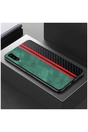 Dara Aksesuar Samsung Galaxy A50s Kılıf Spor Deri Kılıf Yeşil