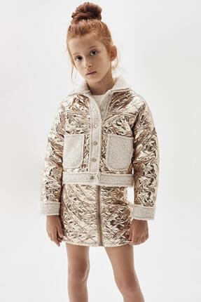 Tyess Kız Çocuk Bronz Bomber Ceket 20fw0tj4707