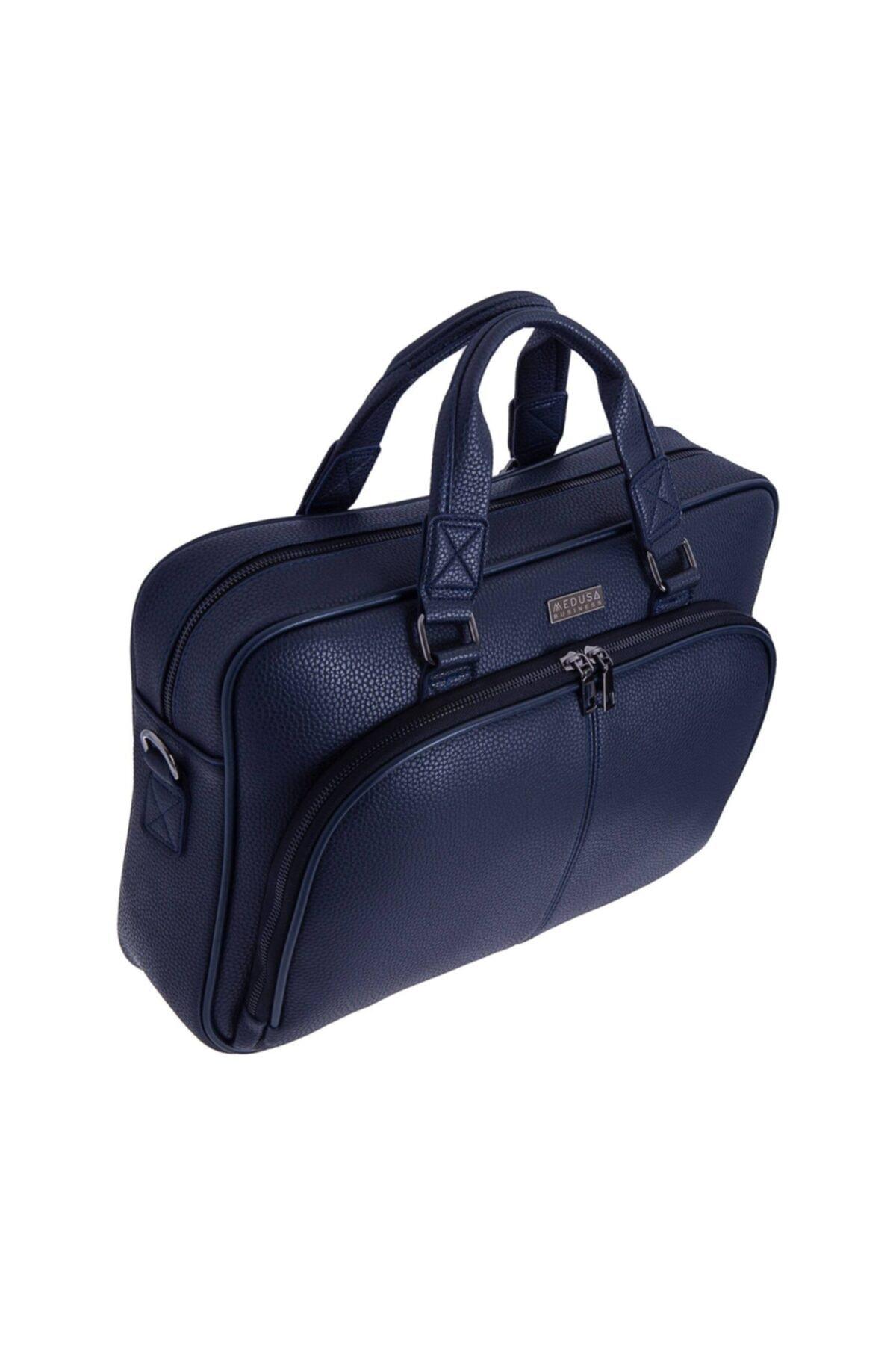 MEDUSA BUSİNESS Mavi Renk 15.6 Inch Laptop & Evrak Çantası 1