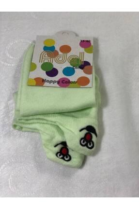 ADEL ÇORAP Unisex Desenli Çorap Fıstık Yeşili
