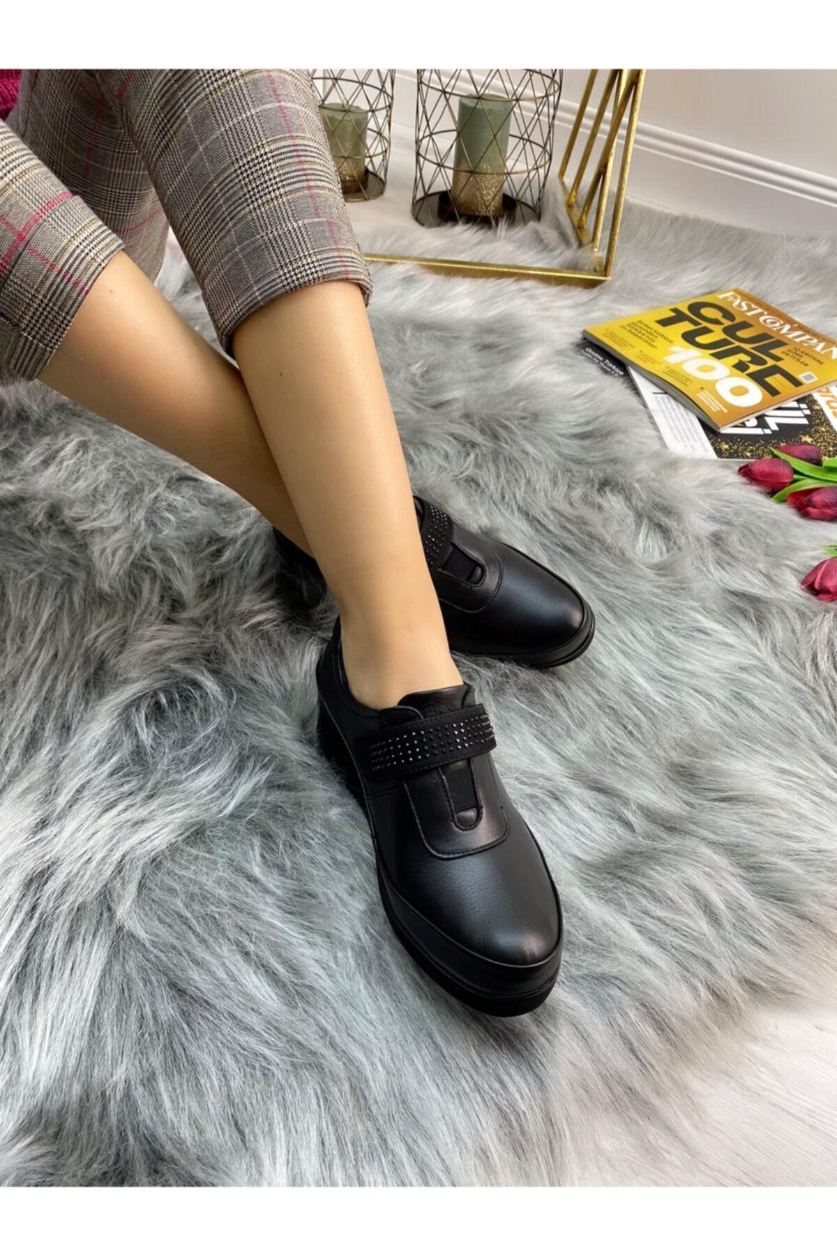 Ülkü Yaman Collection Hakiki Deri Günlük Comfort Ayakkabı 1
