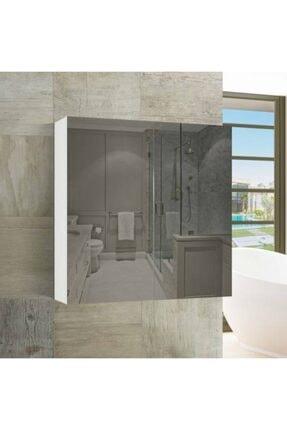 ARS GRUP MOBİLYA Home Lavabo Dolabı Aynalı Lavabo Dolabı Banyo Dolabı Raflı Dolap Ars 6060