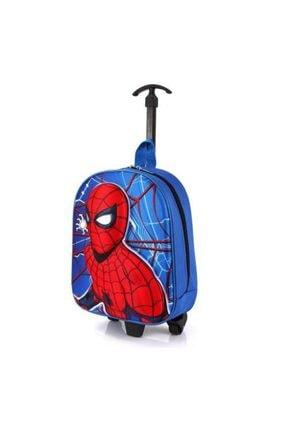 BigSale Anaokulu Çekçekli Sırt Çantası Örümcek Adam Kabartmalı 5d Spiderman