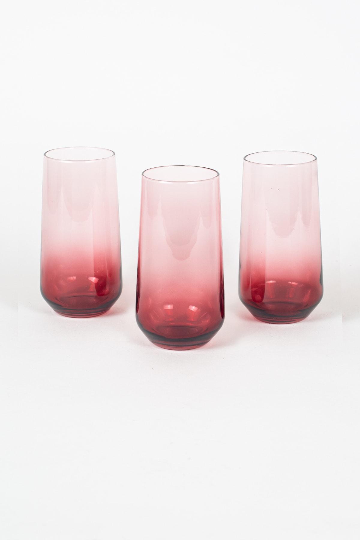 Rakle New Iconic 3'lü Meşrubat Bardağı Seti Kırmızı 470 1